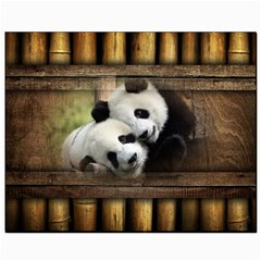 Panda Love Canvas 8  X 10  (unframed) by TheWowFactor