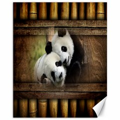 Panda Love Canvas 11  X 14  (unframed) by TheWowFactor