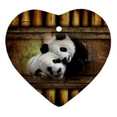 Panda Love Heart Ornament by TheWowFactor