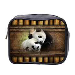 Panda Love Mini Travel Toiletry Bag (two Sides) by TheWowFactor