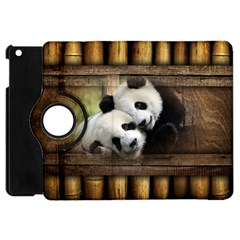 Panda Love Apple Ipad Mini Flip 360 Case by TheWowFactor