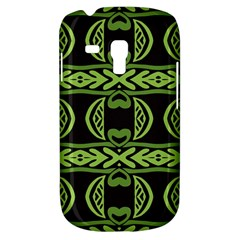 Green Shapes On A Black Background Pattern Samsung Galaxy S3 Mini I8190 Hardshell Case by LalyLauraFLM