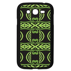 Green Shapes On A Black Background Pattern Samsung Galaxy Grand Duos I9082 Case (black) by LalyLauraFLM