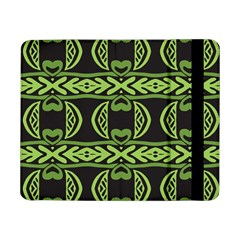 Green Shapes On A Black Background Pattern Samsung Galaxy Tab Pro 8 4  Flip Case by LalyLauraFLM
