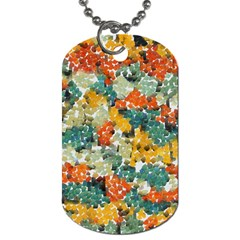 Paint Strokes In Retro Colors Dog Tag (two Sides) by LalyLauraFLM
