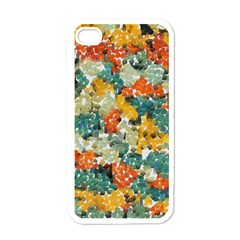 Paint Strokes In Retro Colors Apple Iphone 4 Case (white) by LalyLauraFLM