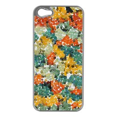 Paint Strokes In Retro Colors Apple Iphone 5 Case (silver) by LalyLauraFLM
