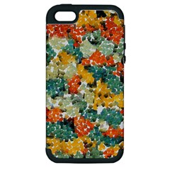 Paint Strokes In Retro Colors Apple Iphone 5 Hardshell Case (pc+silicone) by LalyLauraFLM