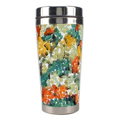 Paint Strokes In Retro Colors Stainless Steel Travel Tumbler by LalyLauraFLM