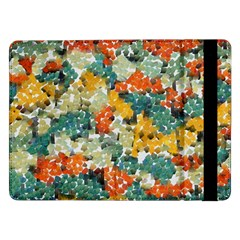 Paint Strokes In Retro Colors Samsung Galaxy Tab Pro 12 2  Flip Case by LalyLauraFLM