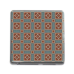 Squares Rectangles And Other Shapes Pattern Memory Card Reader With Storage (square) by LalyLauraFLM