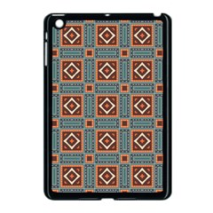 Squares Rectangles And Other Shapes Pattern Apple Ipad Mini Case (black) by LalyLauraFLM
