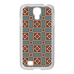 Squares Rectangles And Other Shapes Pattern Samsung Galaxy S4 I9500/ I9505 Case (white) by LalyLauraFLM