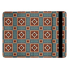 Squares Rectangles And Other Shapes Pattern Samsung Galaxy Tab Pro 12 2  Flip Case by LalyLauraFLM