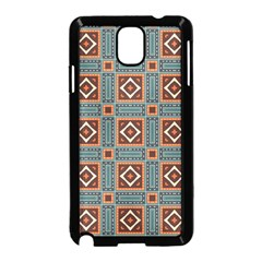 Squares Rectangles And Other Shapes Pattern Samsung Galaxy Note 3 Neo Hardshell Case (black) by LalyLauraFLM