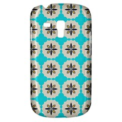 Floral Pattern On A Blue Background Samsung Galaxy S3 Mini I8190 Hardshell Case by LalyLauraFLM