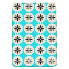 Floral Pattern On A Blue Background Removable Flap Cover (large) by LalyLauraFLM