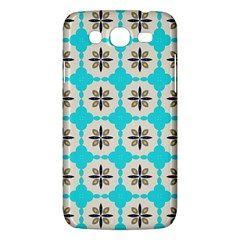 Floral Pattern On A Blue Background Samsung Galaxy Mega 5 8 I9152 Hardshell Case  by LalyLauraFLM