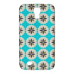 Floral Pattern On A Blue Background Samsung Galaxy Mega 6 3  I9200 Hardshell Case by LalyLauraFLM