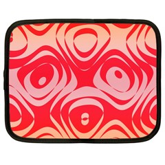 Gradient Shapes Netbook Case (xl) by LalyLauraFLM
