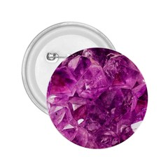 Amethyst Stone Of Healing 2 25  Button by FunWithFibro