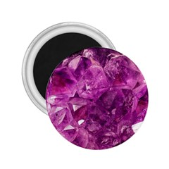 Amethyst Stone Of Healing 2 25  Button Magnet by FunWithFibro