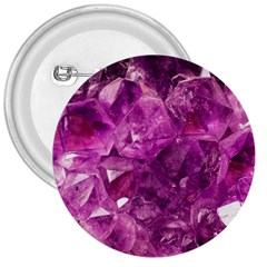 Amethyst Stone Of Healing 3  Button by FunWithFibro