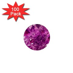 Amethyst Stone Of Healing 1  Mini Button Magnet (100 Pack) by FunWithFibro