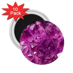 Amethyst Stone Of Healing 2 25  Button Magnet (10 Pack) by FunWithFibro