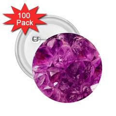 Amethyst Stone Of Healing 2 25  Button (100 Pack) by FunWithFibro