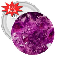 Amethyst Stone Of Healing 3  Button (100 Pack) by FunWithFibro