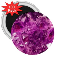 Amethyst Stone Of Healing 3  Button Magnet (100 Pack) by FunWithFibro