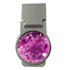 Amethyst Stone Of Healing Money Clip (round) by FunWithFibro