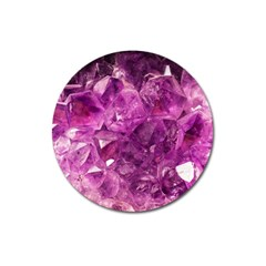 Amethyst Stone Of Healing Magnet 3  (round) by FunWithFibro