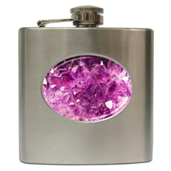 Amethyst Stone Of Healing Hip Flask by FunWithFibro