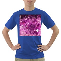 Amethyst Stone Of Healing Men s T Shirt (colored) by FunWithFibro