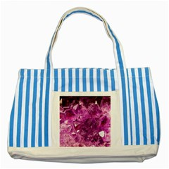 Amethyst Stone Of Healing Blue Striped Tote Bag by FunWithFibro