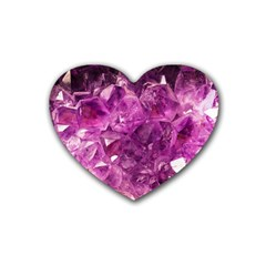 Amethyst Stone Of Healing Drink Coasters 4 Pack (heart)  by FunWithFibro
