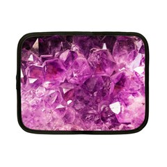 Amethyst Stone Of Healing Netbook Sleeve (small) by FunWithFibro