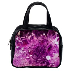 Amethyst Stone Of Healing Classic Handbag (one Side) by FunWithFibro