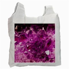 Amethyst Stone Of Healing White Reusable Bag (two Sides) by FunWithFibro