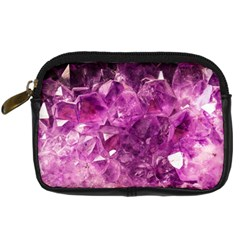 Amethyst Stone Of Healing Digital Camera Leather Case by FunWithFibro
