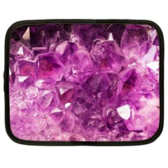 Amethyst Stone Of Healing Netbook Sleeve (xl) by FunWithFibro