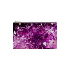 Amethyst Stone Of Healing Cosmetic Bag (small) by FunWithFibro