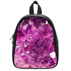Amethyst Stone Of Healing School Bag (small) by FunWithFibro