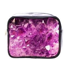 Amethyst Stone Of Healing Mini Travel Toiletry Bag (one Side) by FunWithFibro
