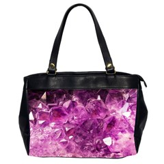 Amethyst Stone Of Healing Oversize Office Handbag (two Sides) by FunWithFibro