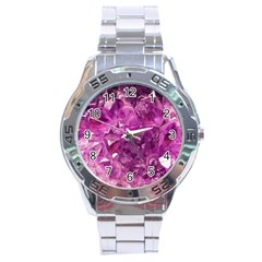 Amethyst Stone Of Healing Stainless Steel Watch