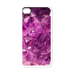Amethyst Stone Of Healing Apple Iphone 4 Case (white) by FunWithFibro