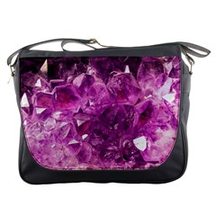 Amethyst Stone Of Healing Messenger Bag by FunWithFibro